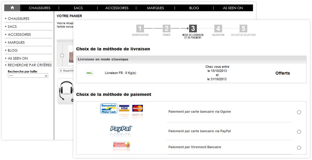 9615185e0ce0cf Un large choix de méthodes de paiement et de livraison déjà intégré ...