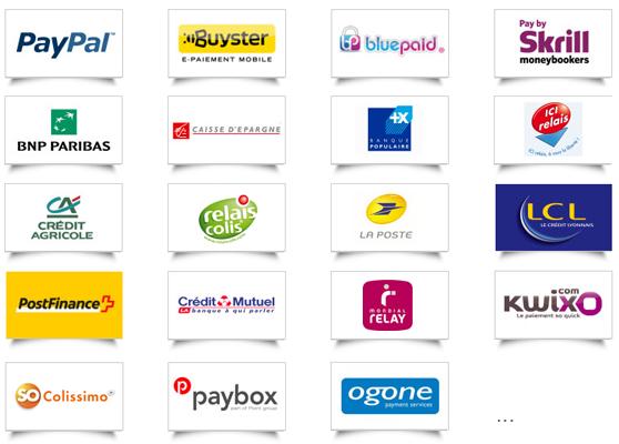 La solution e commerce Shop application intégre en natif les méthodes de paiement et de livraison les plus utilisées sur le marché