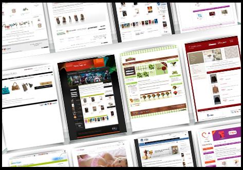Exemples de kit graphiques spécialialement adaptés au E-commerce
